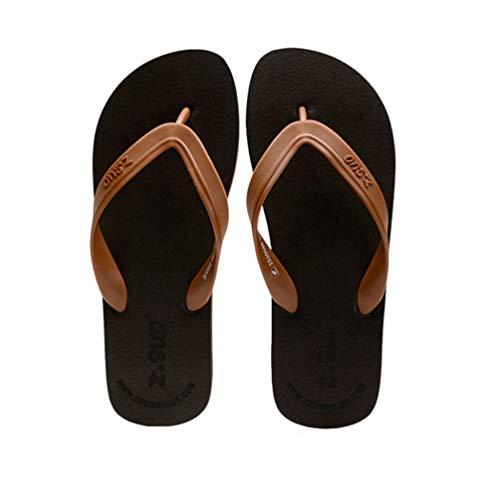 Playa cómodo Chocolate Flip Flops Verano Zapatillas Hombres Casuales Zapatos waICq6