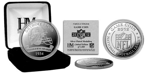 NFL Detroit Lions 2012 Silver Game Coin ()