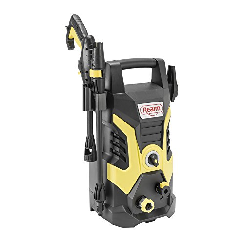 Realm BY02-BCON Electric Pressure Washer, 2000 PSI, 1.75 GPM with Spray Gun, Adjustable Nozzle, Detergent Bottle, 13 Amp, Yellow/Black
