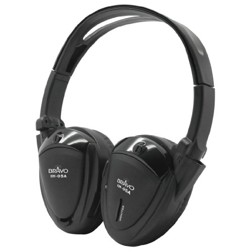 Bravo View IH-05A – SINGLE SOURCE Automotive IR Wireless (Single Source Wireless Headphones)