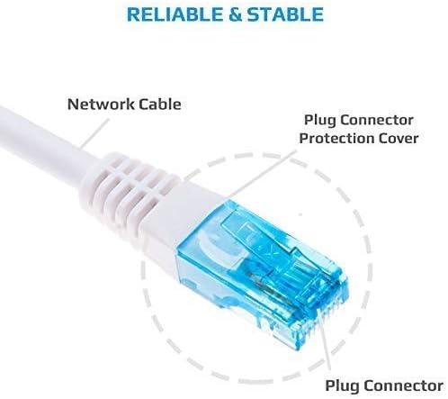 SoDo Tek TM RJ45 Cat5e Ethernet Patch Cable for Zoom ADSL WLAN X6 Modem//Router Series 1046 - Blue 5590 25 ft