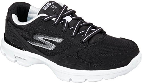 Black Skechers 3 Go Walk White 14063 Yq8A7P