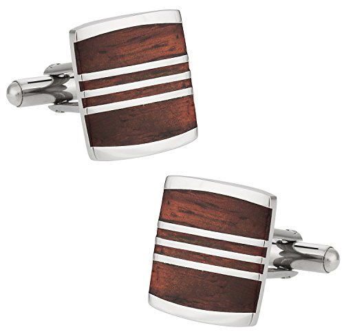 Cuff-Daddy Reclaimed Recycled Wood Cufflinks with Presentation Box