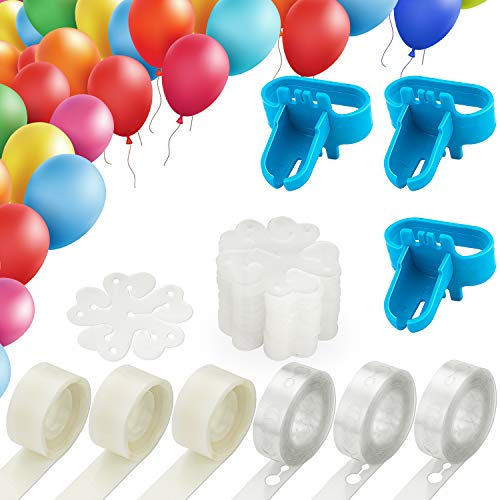 (Balloon Decorating Strip Kit for Arch Garland, 50Ft Balloon Tape Strip, 300 Dot Glue, 3 Pcs Tying Tool, 30 Flower Clip for Birthday, Wedding, Party Decorations)