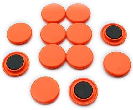 36 mm Confezione da 10 magneti colorati tondi per frigorifero e lavagna Blu