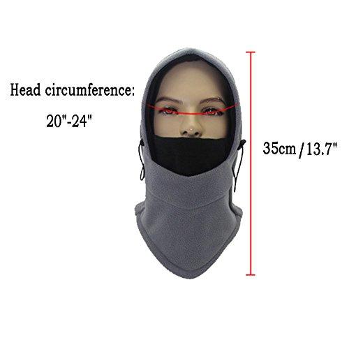 Balaclava Face Ski Mask Motorcycle Fleece Hood/Neck Warmers/Hat Mens Womens
