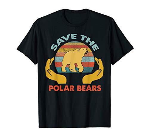 Vintage Rescue Polar Bears-Save The Polar Bears T-Shirt ()