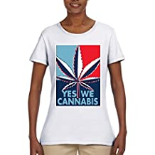 Yes We Cannabis   Poster Parody   Womens Weed Graphic T-Shirt