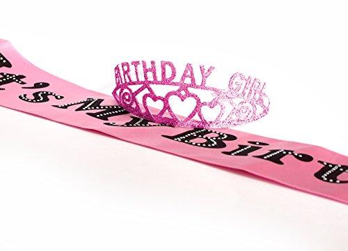 Pink Birthday Girl Glitter Tiara And It S My Birthday