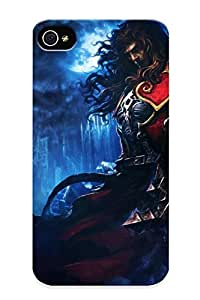 Design For Iphone 4/4s Premium Tpu Case Cover Video Games Fantasy Art Artwork Castlevania: Lords Of Shadow Gabriel Belmont Protective Case