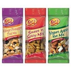 Kar's Nutty Snacks Variety Pack 24ct 2.375lbs (Mango Pineapple, Yogurt Apple, Sweet 'N Spicy) by Kar's [Foods]