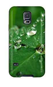 For Galaxy Case, High Quality Leaf Earth Water Plant Raindrop Drop Nature Water Drop For Galaxy S5 Cover Cases