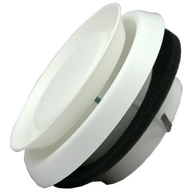 Speedi-Products EX-DFRP 06 6-Inch Diameter Round Adjustable Plastic Diffuser, White