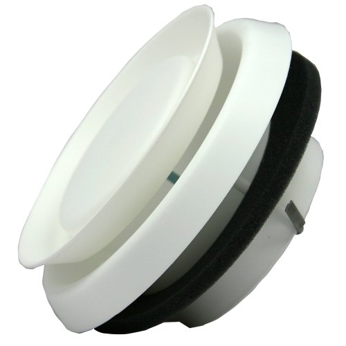 Speedi-Products EX-DFRP 04 4-Inch Diameter Round Adjustable Plastic Diffuser White