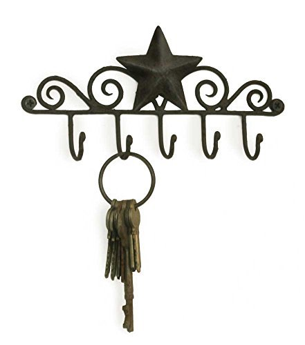1 X Star Key Rack Holder in Black by 365135BLK (Image #1)