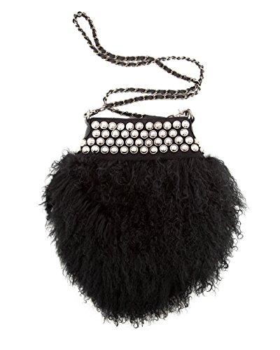 Maze - Bolso cruzados de pelo para mujer talla única negro