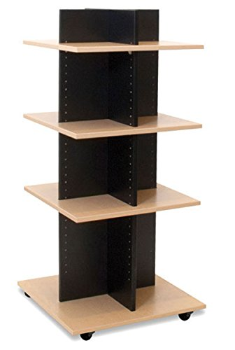 Shelf Tower Clothing Display Retail Wood Merchandisers Fixture Knockdown NEW by Unknown