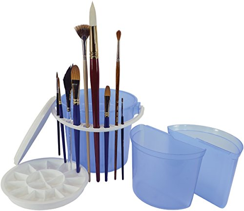 Art Advantage ART-6945-4 Brush Wash Bucket with Removable Inner Basins ()