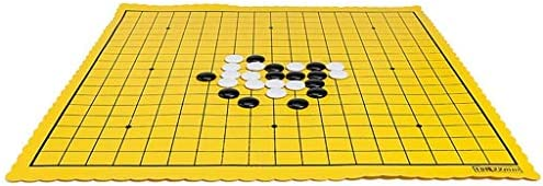 Go Game - Go Chess Board Game Set met Plastic Weaving Chess Can Tournament, Checkers, Leather Chessboard, Fold Gobang, Fantastic (Intellectual Thinking Exercise)