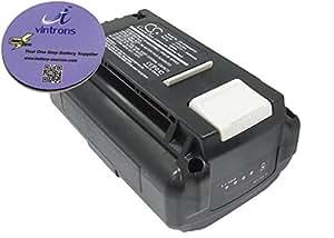 Brundle vintrons - 3000 mAh batería de repuesto para RYOBI RY40100, RY40410, + apoyavasos vintrons