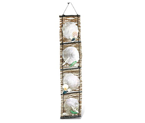 Puzzled Capiz Asst Shell Hanging Wall Ornament, 23 Inch Intricate & Meticulous Detailing Art Resin Handcrafted Décor Wind Chime Accent Nautical Ocean Marine Life Themed Home & Kitchen Accessory
