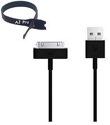 AJ Pro 10' FT Black Extension USB Sync Cable Power Cord Charger Supports iPhone 4S 4 3GS iPad 1 2 3, iPod + 8
