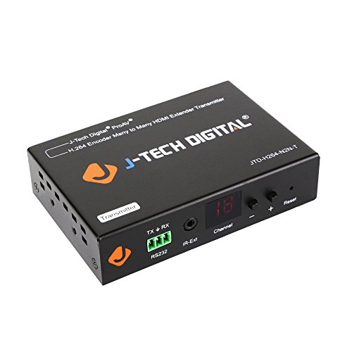 J-Tech Digital ProAV HDMI Extender / H.264 Encoder and Decoder Over Ethernet Cat6 Extender Matrix 12X12 8X8 Switch Switcher Extender by Single Ethernet Cable up to 400ft (Transmitter/Encoder) by J-Tech Digital