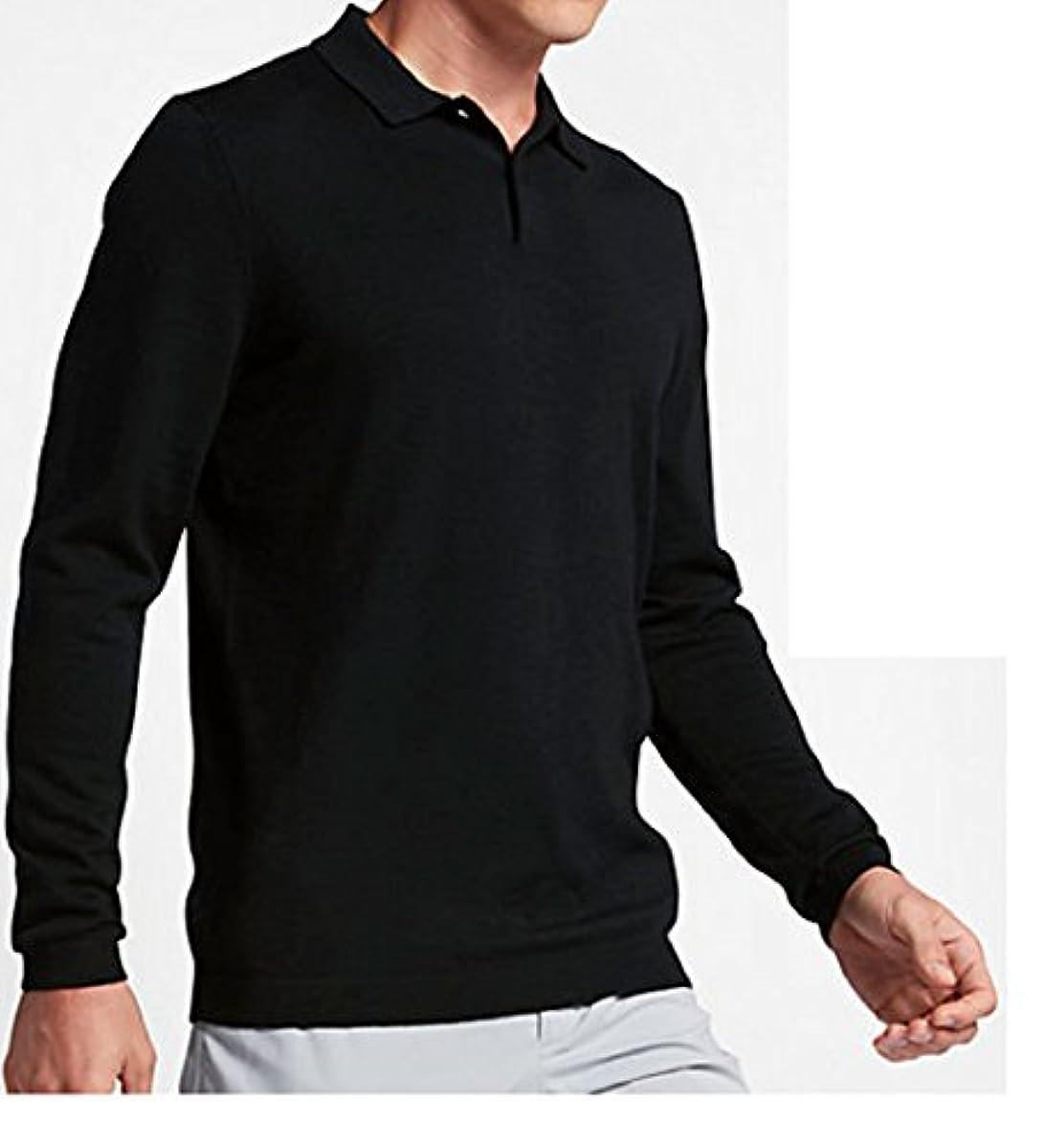 [해외] NIKE 나이키 울 스웨터 골프 폴로 M사이즈(163-175CM) 국내 정규품 골프 웨어 811555 블랙