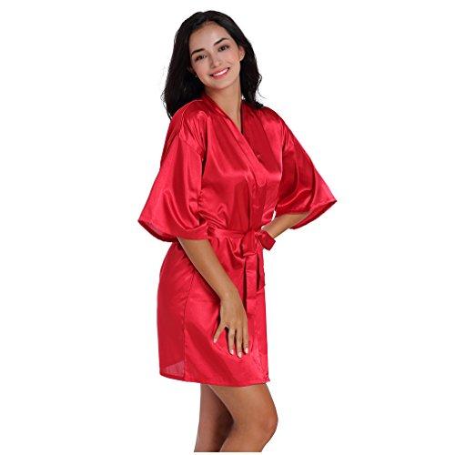 Camicie Pigiami Notte da Accappatoi Damigella e Rosso Donna d'onore Kimono BOYANN e Vestaglie 0Hq4qX
