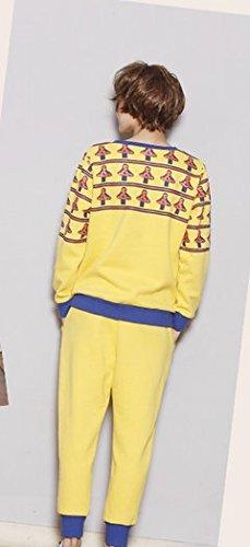 Trendy Persönlichkeit Strick Pyjamas Frauen Herbst-und Winter-Pyjamas Hooded Thicker Warm Pyjamas Langarm-Home-Bekleidung Anzug Pyjamas ( größe : Xl )