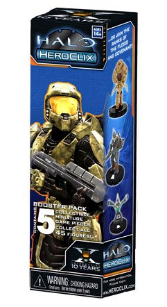 Miniature Heroclix (Halo Heroclix Trading Miniature Figure Game 2011 Edition 5Figure Booster Pack)