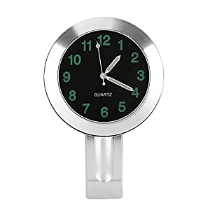 "CICMOD 7/8 1"" Reloj Manillar Universal para Motocicleta con Kits de Montaje, Cromo-Negro"