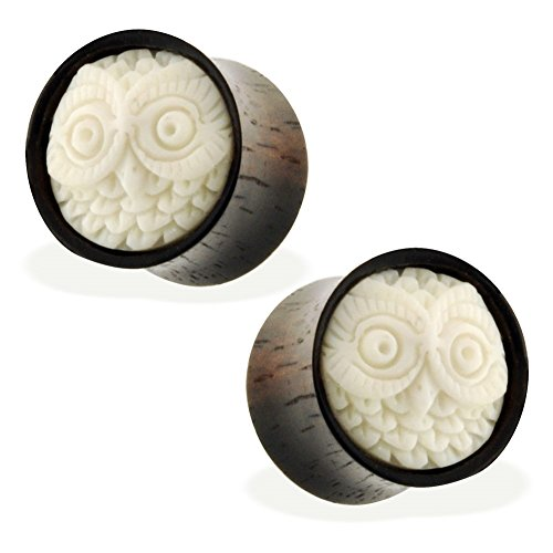 00 gauges plugs owl - 1