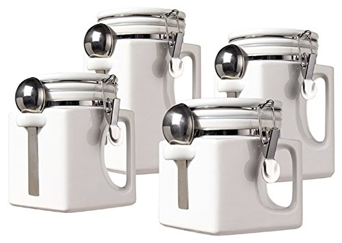 (Oggi EZ Grip Handle 4-Piece Ceramic Airtight Canister Set,)