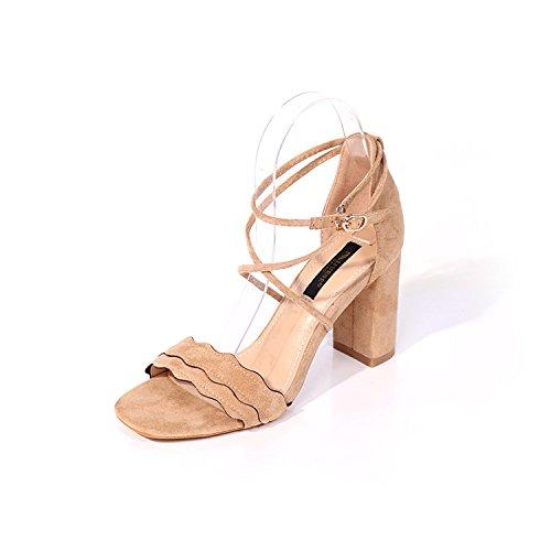 señoras de con five la Thirty Cruz grueso tacón zapatos tacones Moda ante zapatos de tacón cómodo qEx7Tp