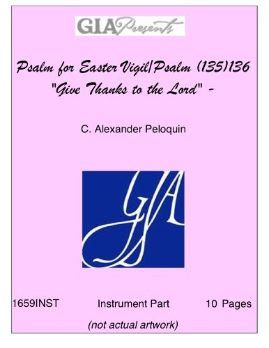 Give Thanks Music Sheet - Psalm for Easter Vigil/Psalm (135)136