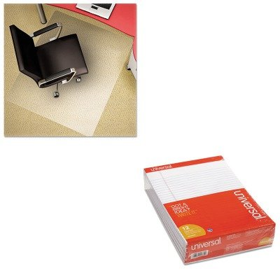 KITDEFCM11442FPCUNV20630 - Value Kit - Deflect-o Polycarbonate Chair Mat (DEFCM11442FPC) and Universal Perforated Edge Writing Pad (UNV20630) by Deflect-O