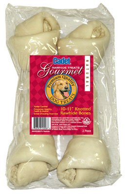 IMS Trading C10008 Gourmet Dog Treats, Rawhide Bone, 10-11-In, 2-Pk. - Quantity 10 ()