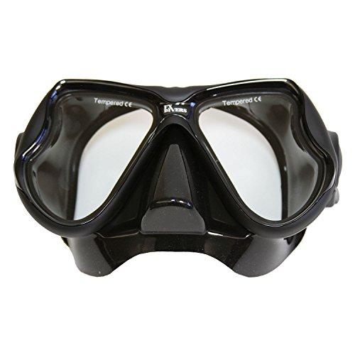 FX Divers Sea Pro Dive Mask, Black/Black