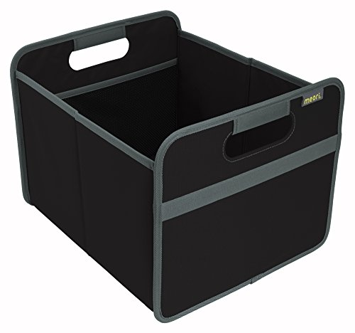 meori Classic Collection Medium Foldable Storage Box, 22 Liter / 6.5 Gallon, In Lava Black To Organize And Carry Up To 65lbs