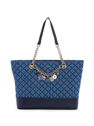 GUESS Women's Victoria Quilted Denim Tote
