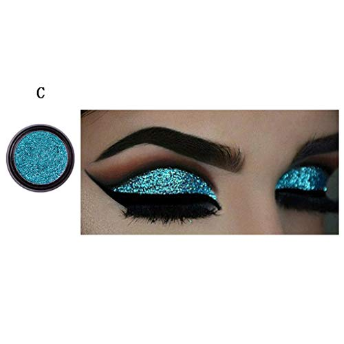 UOKNICE Eye Shadow for Women, Beauty Natural 1pcs Shimmer Glitter Powder Palette Matte Cosmetic Makeup Eyeshadow Guide uses List Pictures Asian Profusion You Names Holographic blk