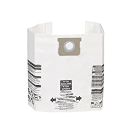Multi-Fit Wet Dry Vacuum Bags VF2008 General Dust Filter Bag (3 Shop Vacuum Bags), Bag Filter For Most 15-Gallon To 22-Gallon Shop-Vac, Genie Shop Vacuum Cleaners