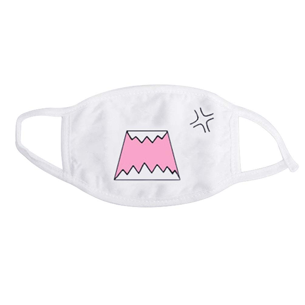 Bianco anime emoticon mouth-muffle Kaomoji Anti-Dust cute Kawaii lovely Face Mask–16 KaariFirefly