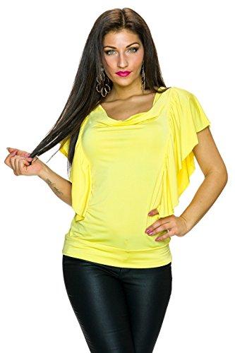 Angies Glamour Fashion - Camiseta sin mangas - para mujer amarillo