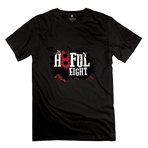 PCY Men's Create My Own The Hateful Eight Cute T Shirts XL Black