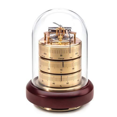 Barigo Barometer, Thermometer & Hygrometer W/Acrylic Top & Mahogany Base ()