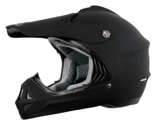Vega Viper Junior Off-Road Helmet (Solid Flat Black, Medium)