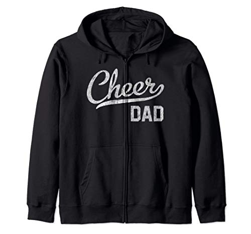 Cheer Dad Proud Cheerleading Dad Gift Zip Hoodie