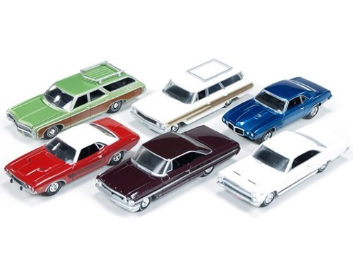 Autoworld Muscle Cars Premium Set Of 6 Cars Release 2 1/64 by Autoworld 64012A